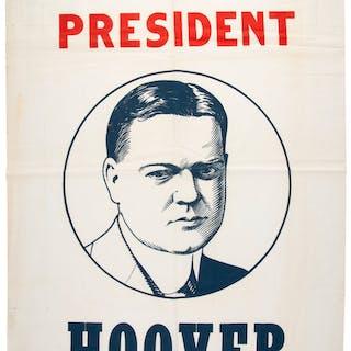Herbert Hoover: 1932 Portrait Banner.  ...