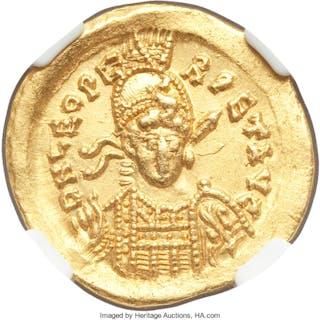 Leo I the Great, Eastern Roman Empire (AD 457-474). AV solidus (20mm