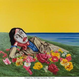 Zeng Fanzhi (Chinese, b. 1964) Untitled (Reclining Figure), 1998 Lithograph
