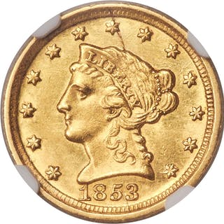 1853-D $2 1/2