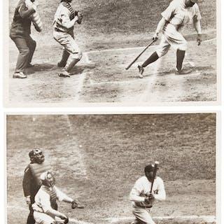 1940's Babe Ruth Original Photograph Lot of 2, PSA/DNA Type 4.