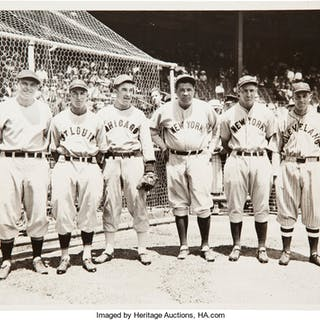 1934 Babe Ruth & Others All-Star Game Original Photograph, PSA/DNA Type 1.