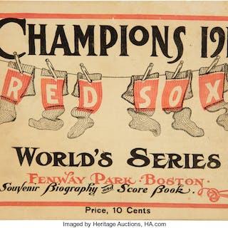 1912 World Series Game 8 Program (Boston).