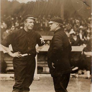 Circa 1911 Christy Matthewson & John McGraw Original New Photograph