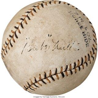 1926 Babe Ruth Single Signed Baseball, PSA/DNA VG-EX 4.