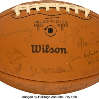 1971 University of Nebraska Cornhuskers Team Signed Football - National