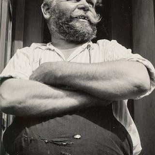 Margaret Bourke-White (American, 1904-1971) Barnabas Cvrcek, Shoemaker/Tinsmith