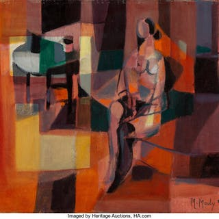 Marcel Mouly (French, 1918-2008) Le nu rouge, 1955 Oil on canvas 15