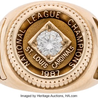 1987 St. Louis Cardinals National Champions Woman's Ring Presented