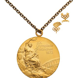 1972 Munich Olympics USSR Men's Basketball Gold Medal Presented to