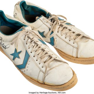 1976-79 Indiana State Sycamores Practice Worn & Signed Sneakers Attributed