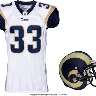 2011 Cadillac Williams Game Worn St. Louis Rams Jersey and Helmet.