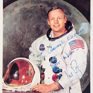 Circa 1980 Neil Armstrong Signed Photograph.