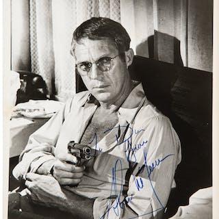 "1972 Steve McQueen Signed ""The Getaway"" Photograph."