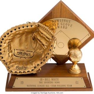 1961 Bill White Gold Glove Award.