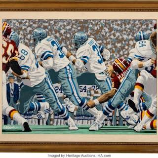 """1987 """"Cowboys: America's Cowboys"""" Original Artwork by Rick Rush."""