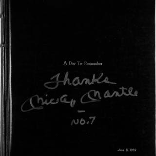"""1969 Mickey Mantle Signed """"Mickey Mantle Day"""" Photograph Album by"""
