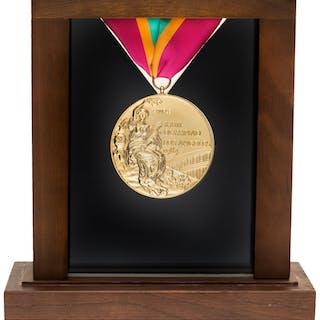 1984 Los Angeles Summer Olympic Games Salesman's Sample Gold Medal.