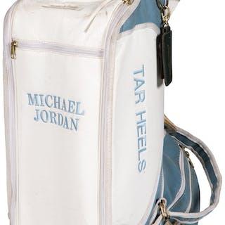 Circa 1980's Michael Jordan Tournament Used North Carolina Tarheels Golf Bag.