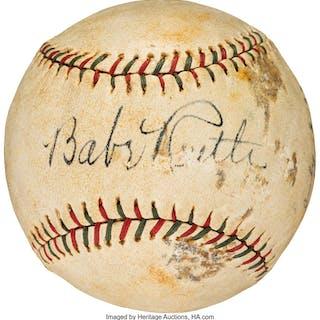1933 Babe Ruth & Lou Gehrig Dual-Signed Baseball.