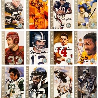 "1998 Football Hall of Fame ""Ron Mix"" Signed Cards Set of 116."