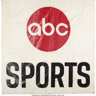 Circa 1970's ABC Sports Banner - Hung During Monday Night Football.