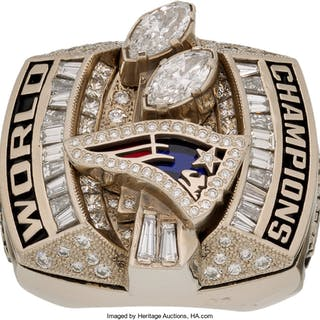 2003 New England Patriots Super Bowl XXXVIII Championship Ring Presented