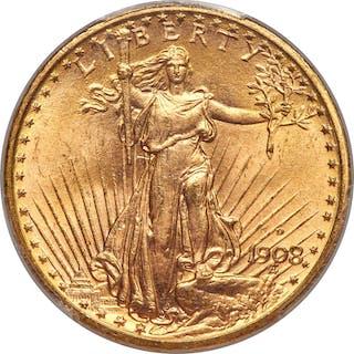 1908-D $20 MOTTO