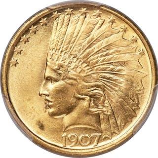 1907 $10 No Motto