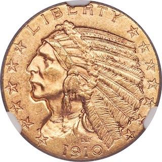 1910-S $5, MS