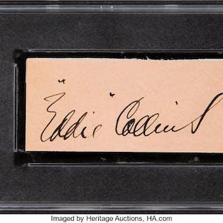 1930's Eddie Collins Signed Cut Signature, PSA/DNA NM-MT 8.