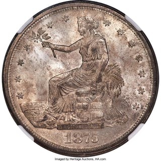 1875-S/CC T$1 FS-501, MS