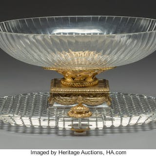 A Large Baccarat Gilt Bronze-Mounted Glass Center Bowl, France, late