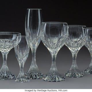 A Seventy-Two-Piece Baccarat Massena Pattern Glass Stemware Service