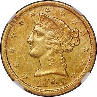 1849-D $5