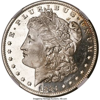 1884-O S$1, DM