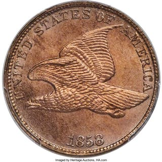 1858 1C Large Letters Flying Eagle