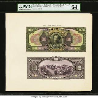 Brazil Banco do Brasil 1000 Mil Reis = 1 Conto de Reis 1923 Pick 123