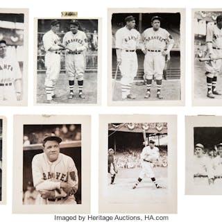 1930's Ruth, Gehrig, Foxx, Simmons, Dean, Dickey & Stars Photographs Lot of 26.