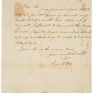 """Samuel Allyne Otis Autograph Letter Signed """"Sam A. Otis""""...."""