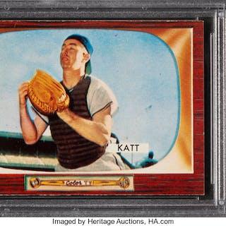 1955 Bowman Ray Katt #183 PSA NM-MT 8 - Only Three Higher.