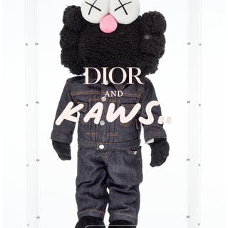 KAWS X Dior BFF Companion (Black), 2019 Polyester plush in Dior denim