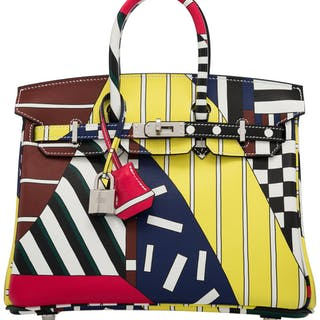 """Hermès Limited Edition 25cm """"One, Two, Three and Away We Go"""" Swift"""