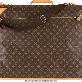 Louis Vuitton Brown Monogram Coated Canvas Garment Bag Condition: