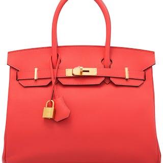 Hermès 30cm Rose Jaipur Epsom Leather Birkin Bag with Gold Hardware