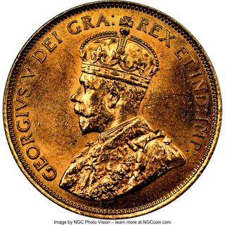 George V gold 10 Dollars 1912 MS62 NGC,...