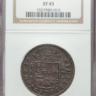 Philip V 4 Reales 1734 M-JF XF45 NGC,...