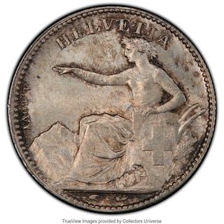 Confederation 1/2 Franc 1851-A MS65 PCGS,...