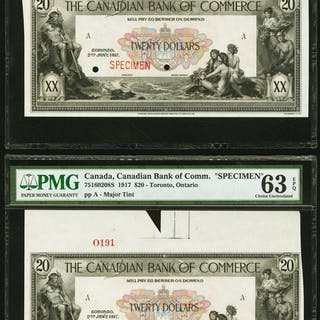 Canada Toronto, ON- Canadian Bank of Commerce $20 2.1.1917 Ch.# 75-16-02-08S