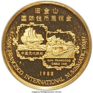 "People's Republic gold Proof ""Year of the Dragon - San Francisco Expo"""
